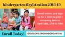 kindergarten enrollment leading you to the enrollment page.