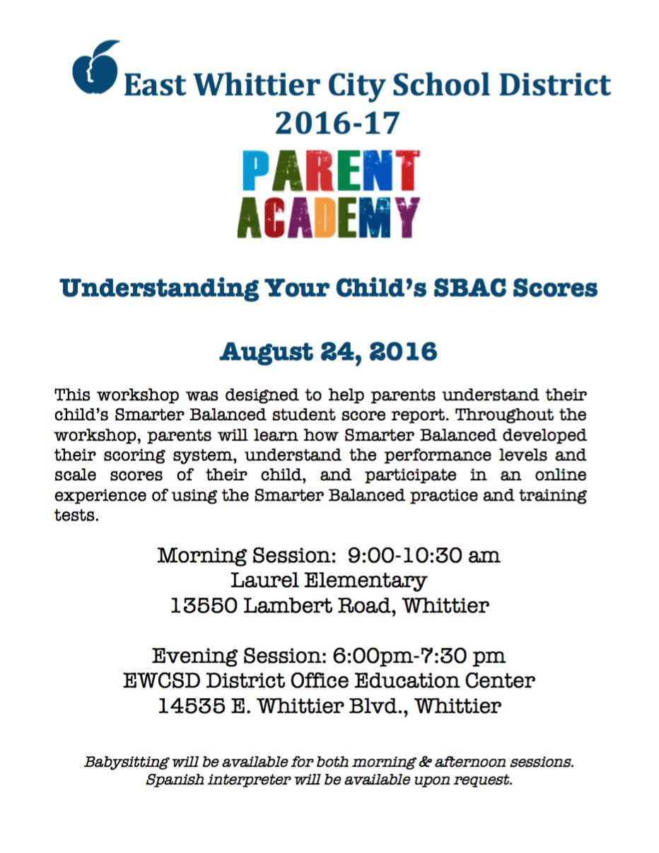 2016-17 Parent Academy Flyer