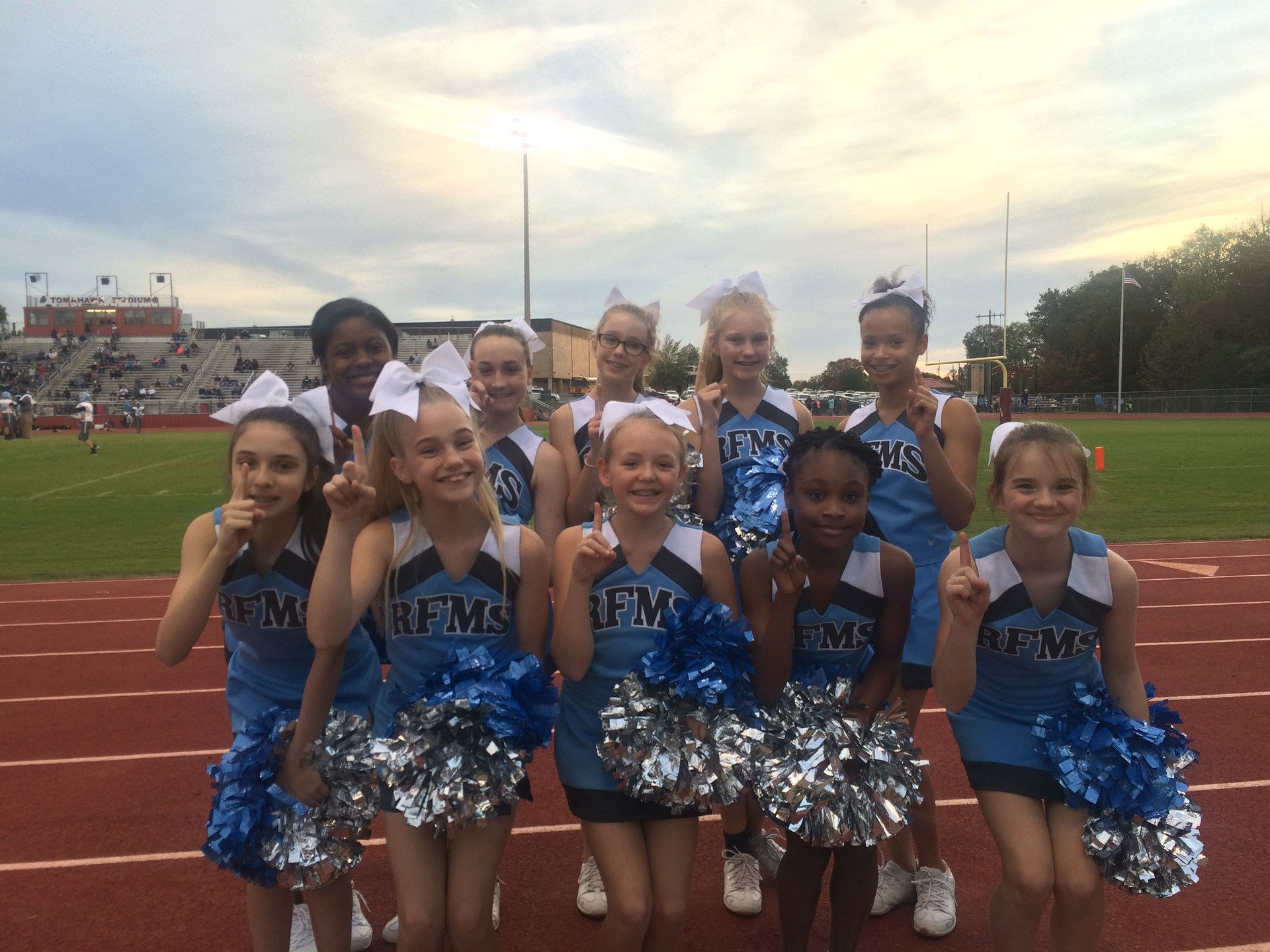 Cheerleaders at RF Championship Game