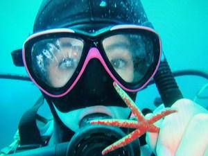 Saragrace diving2.JPG