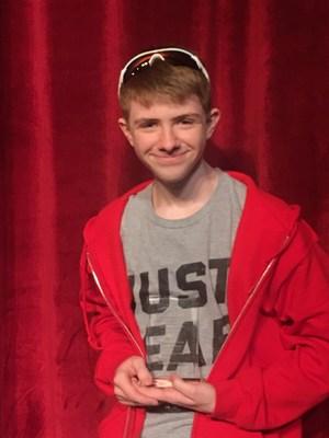 National Literacy Competition award winner Zane Rhyne, Grantsville High student