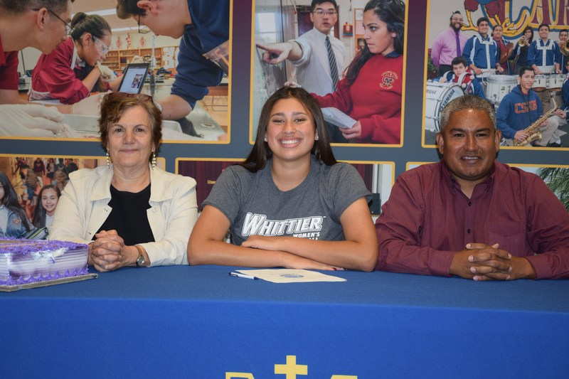 Emily Guerena signs at Whittier College to play basketball! Thumbnail Image