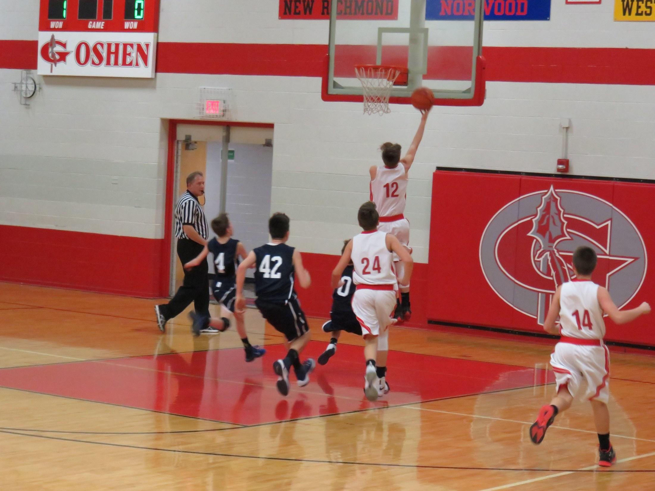7th grade boys basketball player Hunter Haley