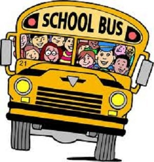 Bus filled with students