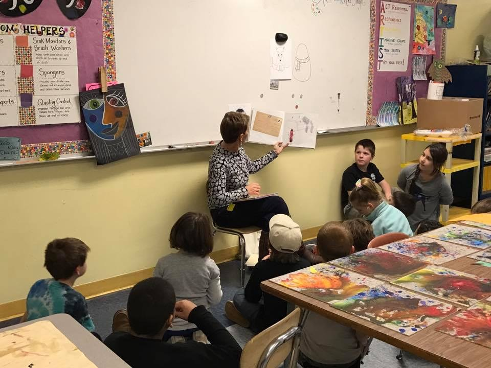 Students being read to