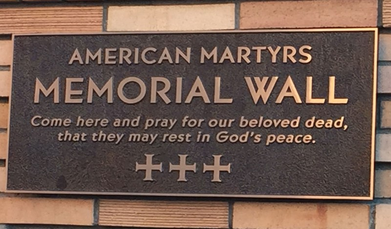 American Martyrs Memorial Wall Featured Photo