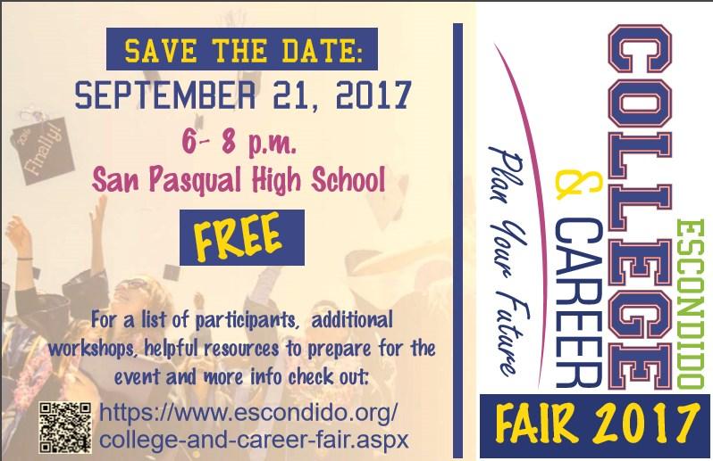 Escondido College & Career Fair 9/21 @ SP Thumbnail Image