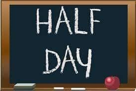 Friday, April  6th is a Half Day for Students, they will be at 12:15pm Featured Photo