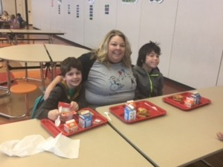 Teachers enjoying breakfast with their students