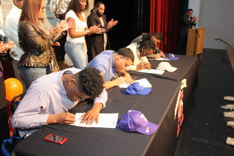 Four MHS Mustangs Sign on National Signing Day Thumbnail Image