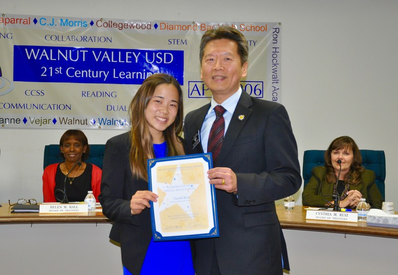 WVUSD Trustees Recognize High School Stars Featured Photo
