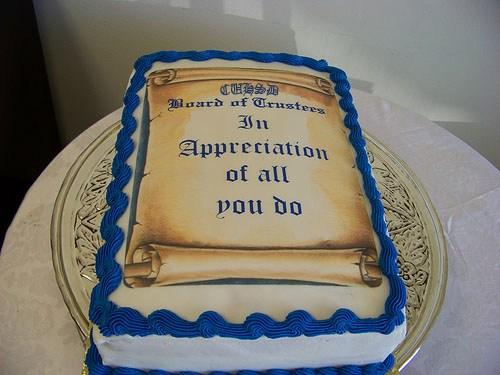C.U.H.S.D. Week of the Employee cake