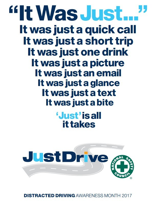 Our District Safety Committee: April is Distracted Driver Awareness Month Thumbnail Image
