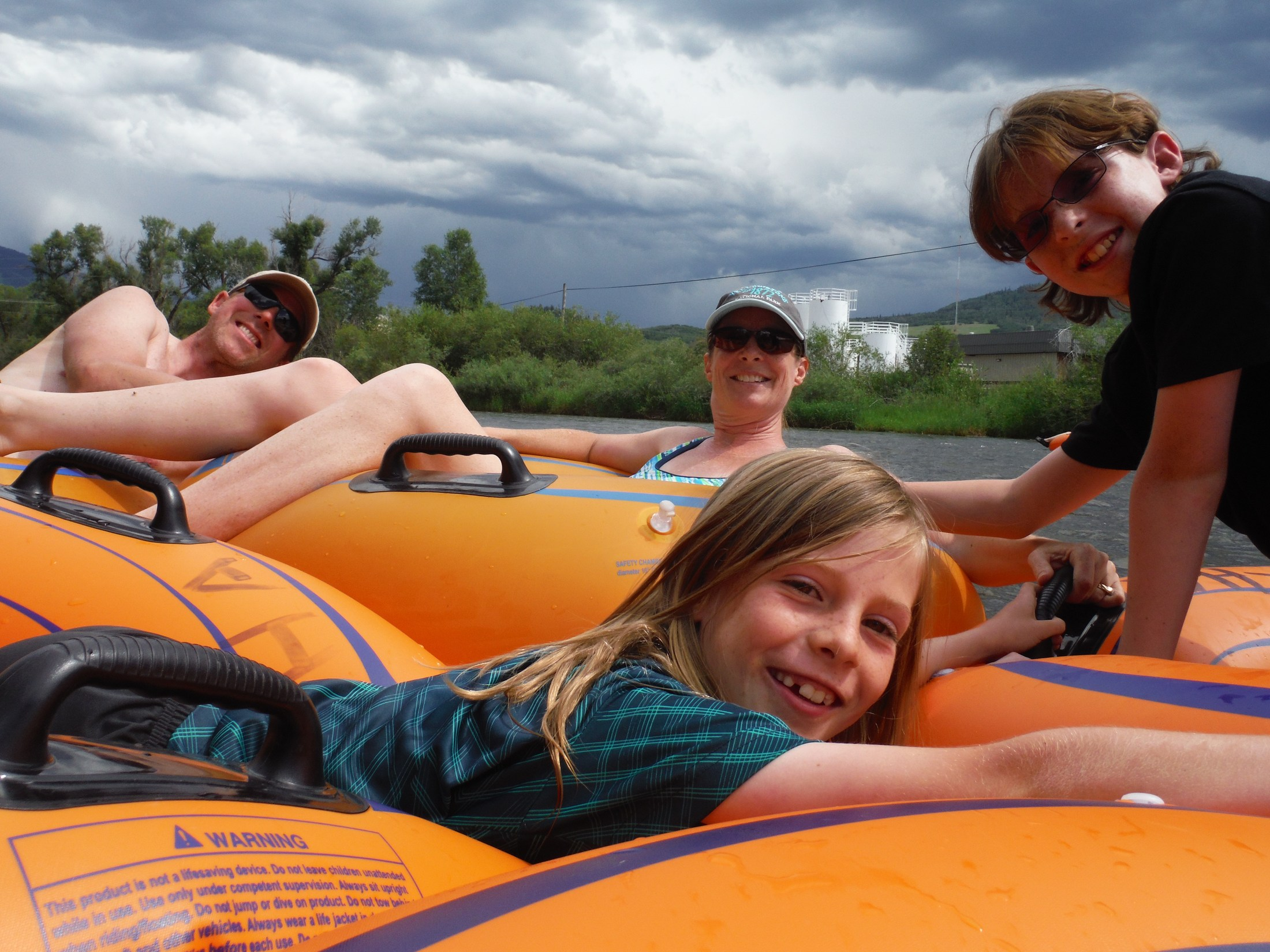 Tubing down the Yampa River near Steamboat Springs