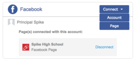Connect both Facebook accounts and Facebook pages to post news items to