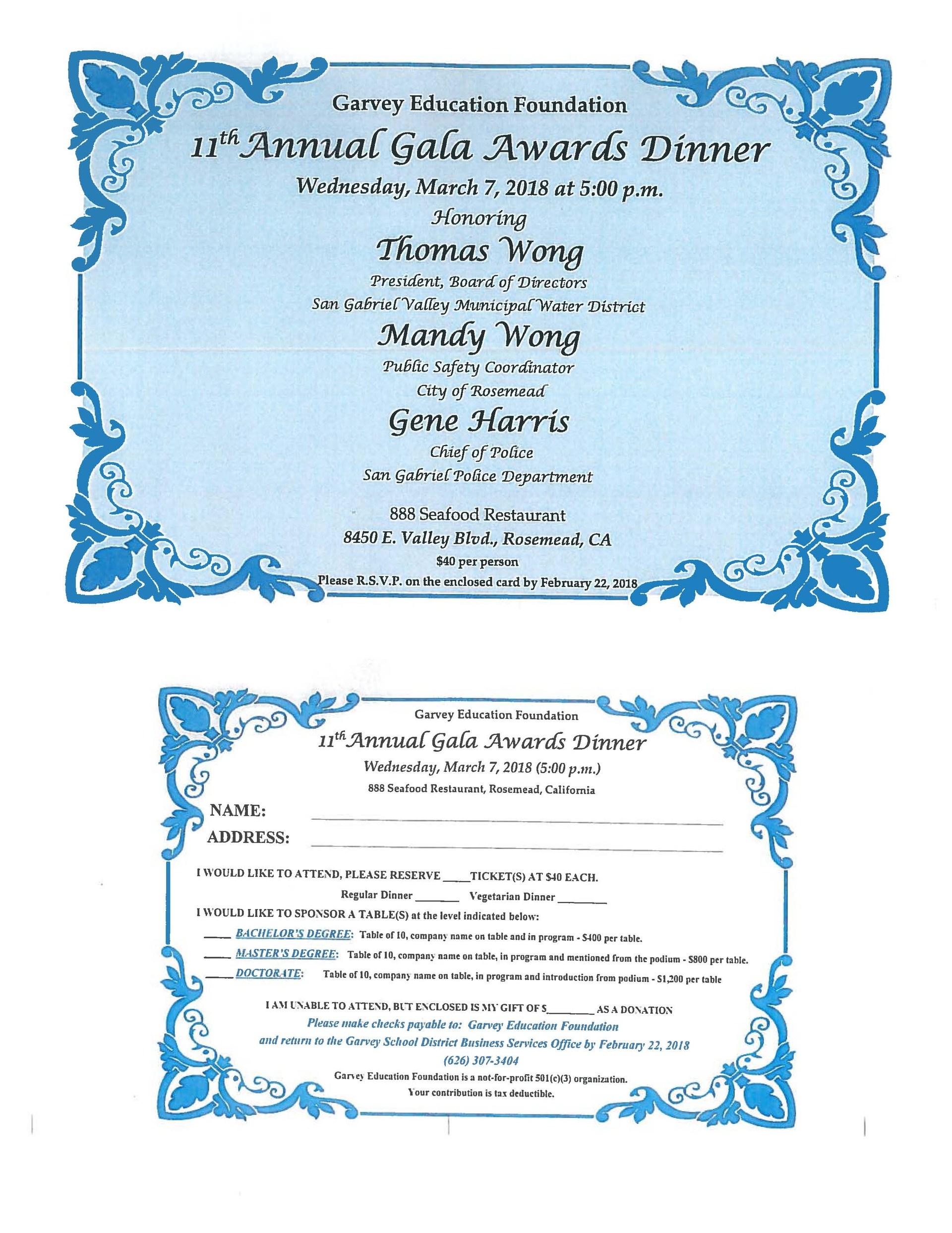 GEF Dinner Foundation