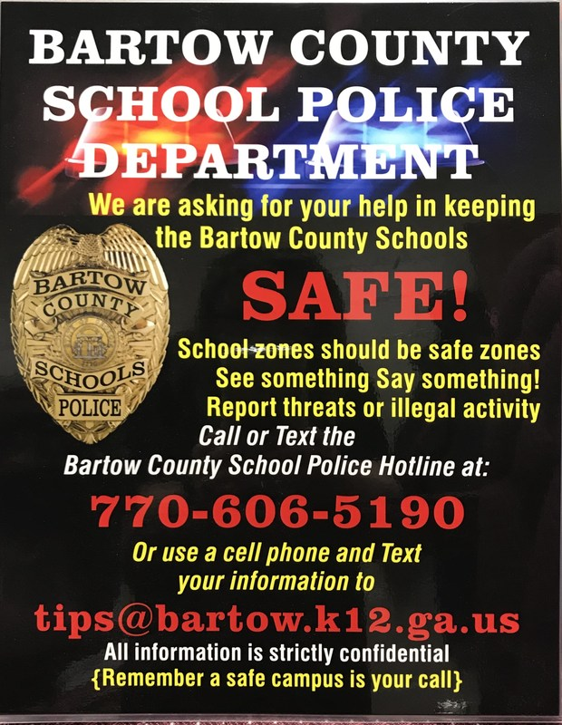 Bartow County School Police Safety Announcement