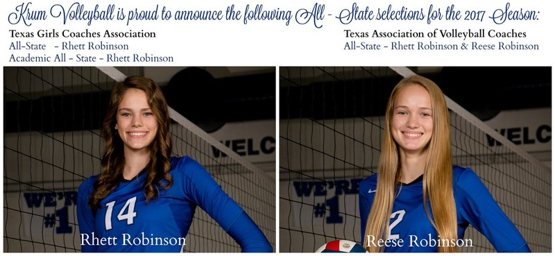 Robinson Sisters Selected for All-State Volleyball Team Thumbnail Image