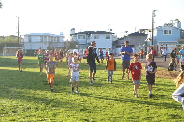 Kids running at run club