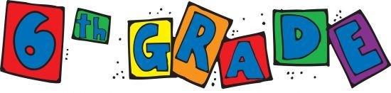 6th Grade in block letters