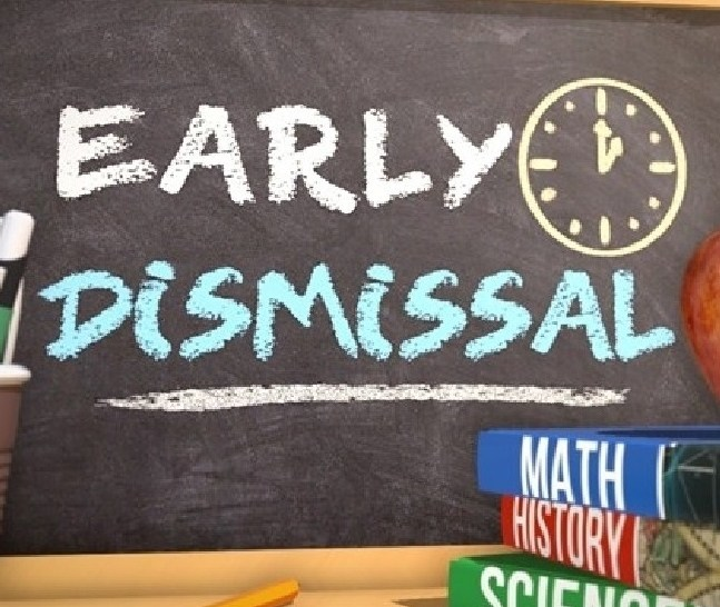 12 Noon Dismissal Today! Thumbnail Image