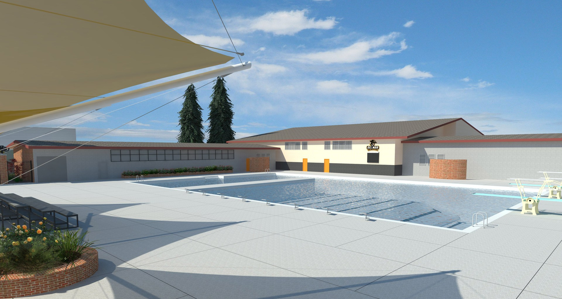 Image of new swimming pool design