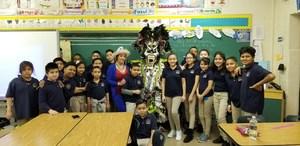 5th grade students celebrating the carnival