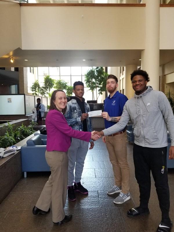 Donation handshake