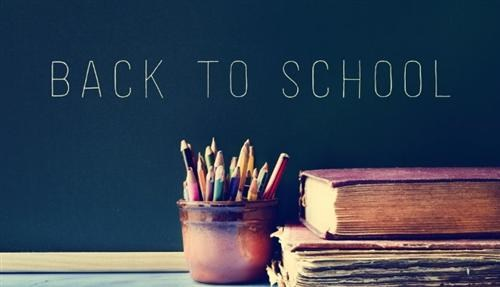 Back to school books and pencils