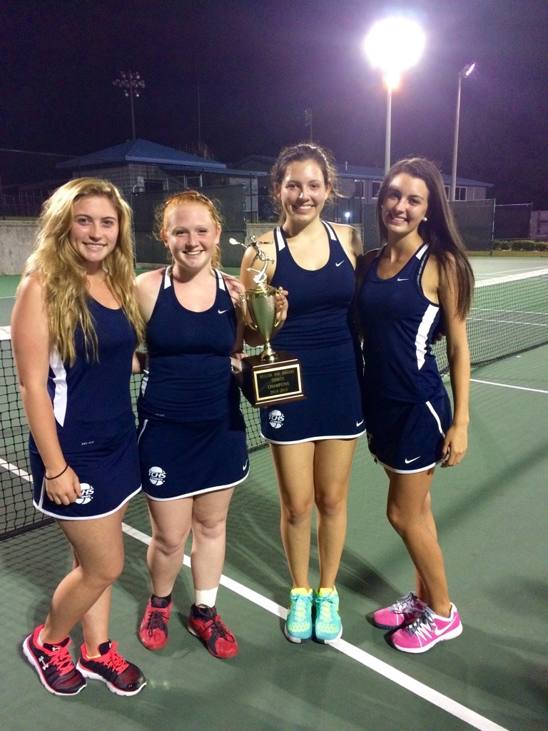 Girls Tennis after win
