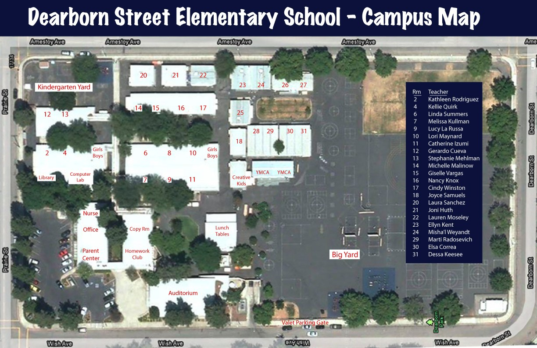 Campus Map Pedestrian Safe Route
