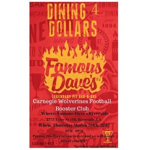 Dining 4 Dollars Flyer - Carnegie Wolverines Football Booster Club.jpg