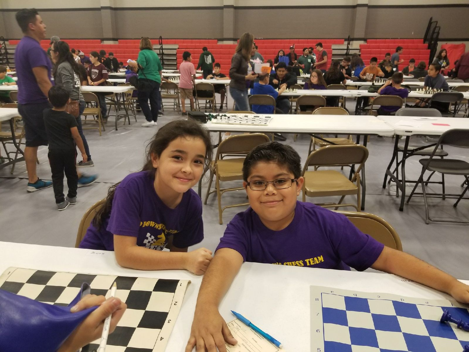 Addisyn Hernandez & Noah Espinoza ~ 3rd Grade Chess Team Members