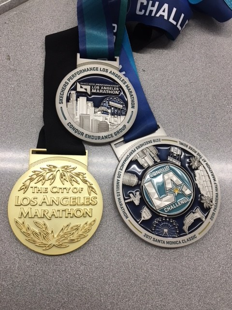 LA Marathon Medals