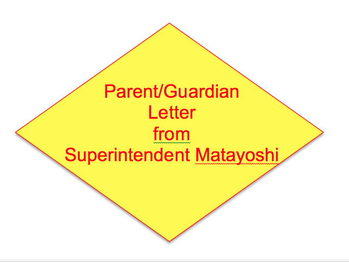 Parent/Guardian Letter from Superintendent Matayoshi Thumbnail Image