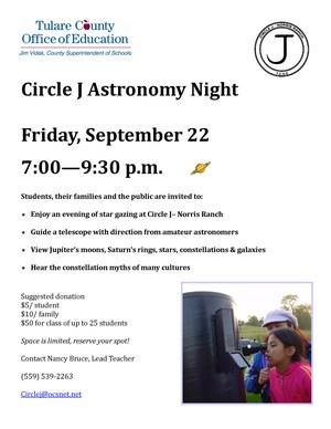 Circle J Astronomy Night
