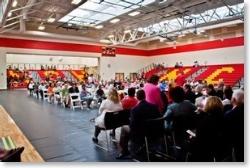 School assembly in NCH high school gym