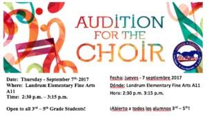 Landrum Honor Choir Announcement