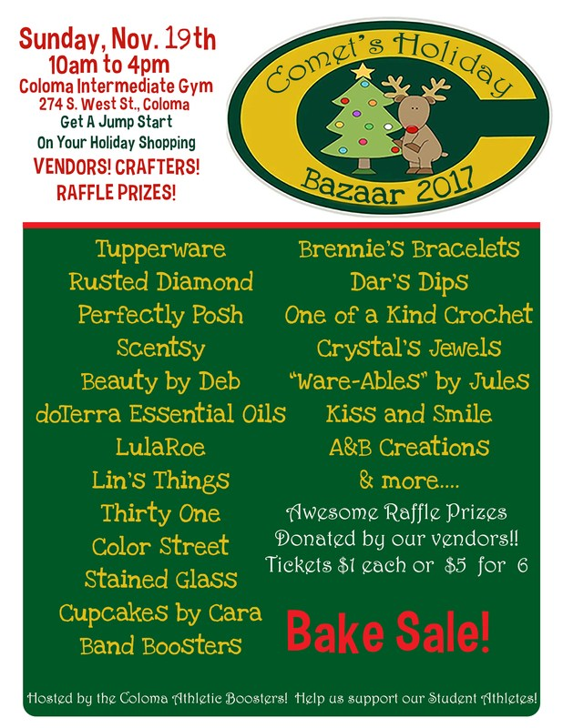 Comet Holiday Bazaar Flyer