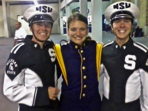 Jacob Foote, Alicia Czarnecki and Braedon Halle are just three of the many TK alumni band members continuing to play in band at the college level.