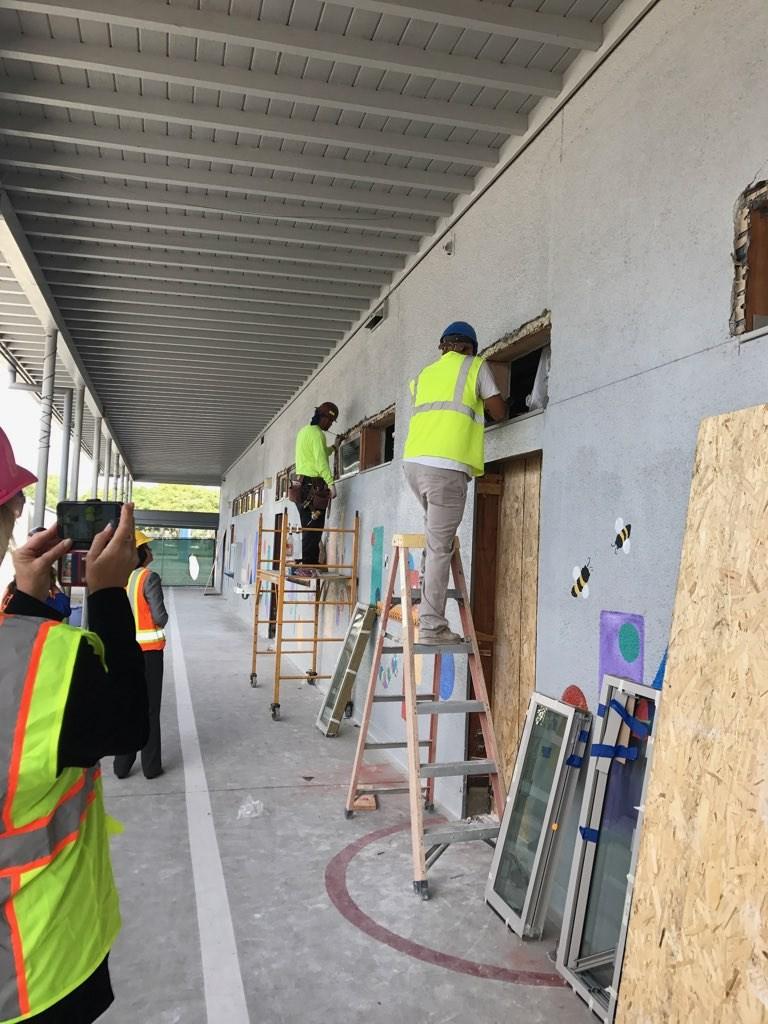 construction at buford elementary