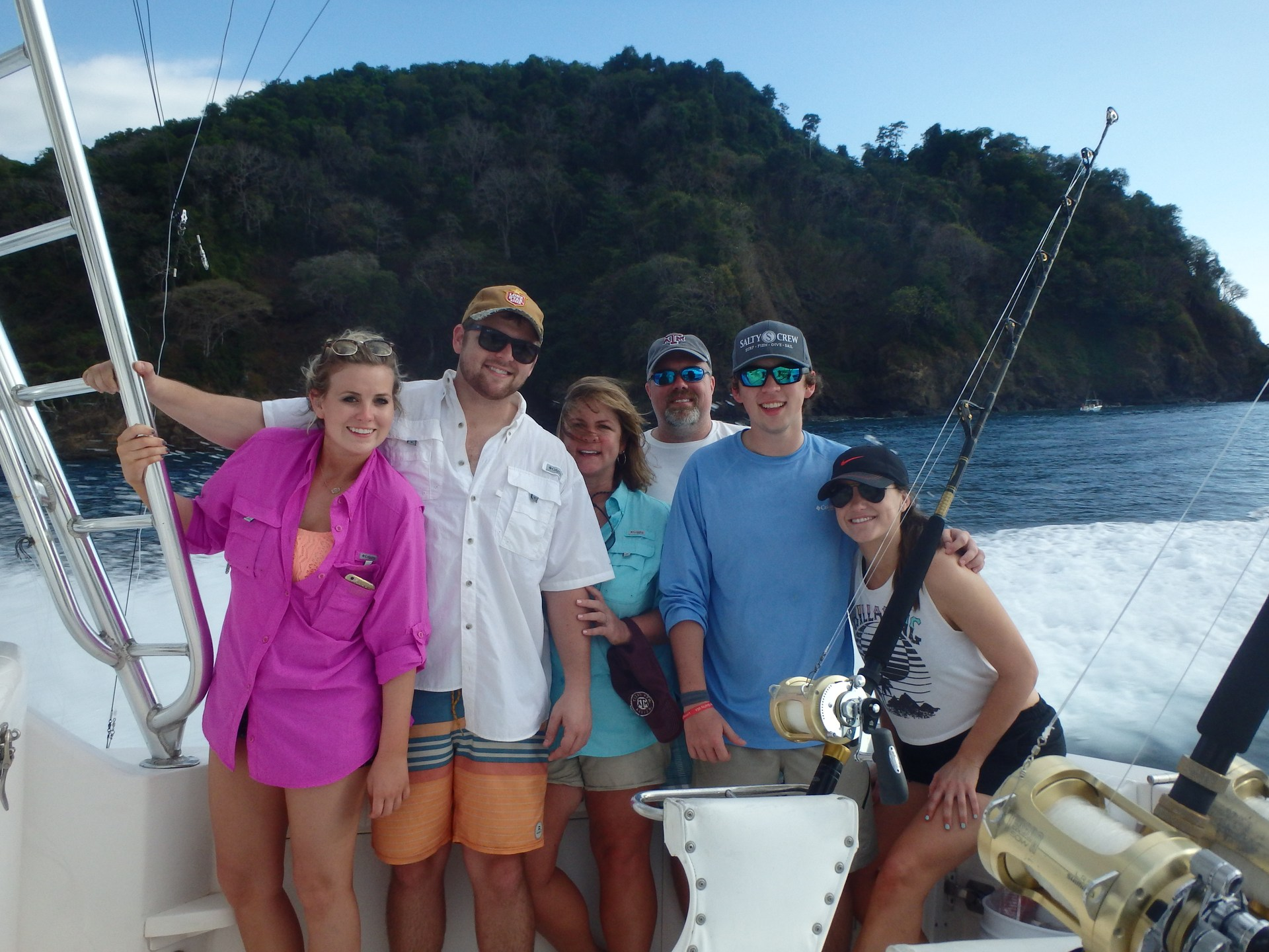My family after a fishing trip in Costa Rica. Allie, Cody, me, Rob, Jared, and my niece, Lindsay.