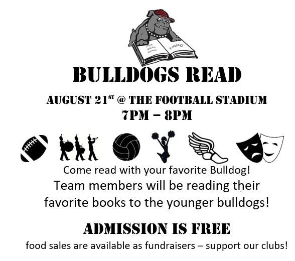 Bulldog Reading Night   August 21st, 2017 Featured Photo
