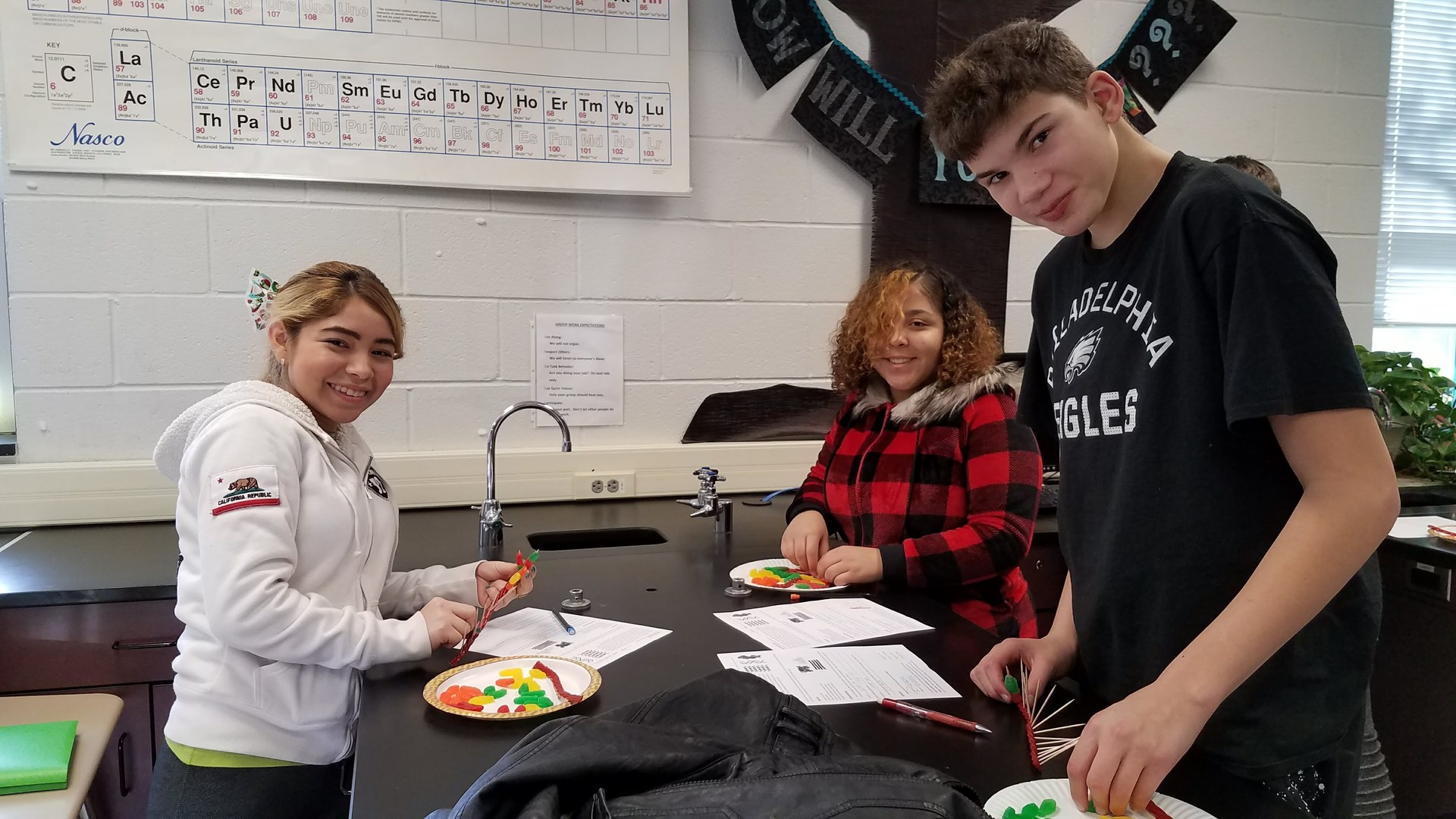 Diana, JoJo, and Stephon building DNA