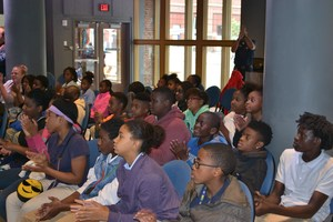 Students at National Blues Museum, STL