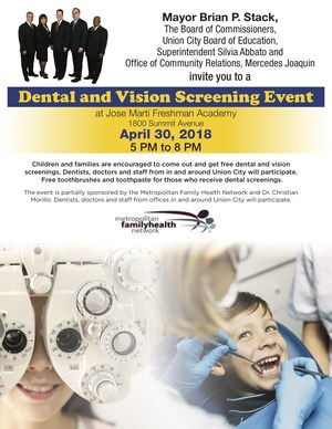 Union City Dental and Vision Screening English Flyer