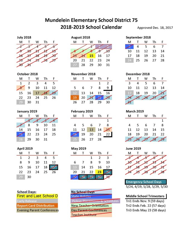 Board of Education Approves 2018-2019 School Calendar Featured Photo