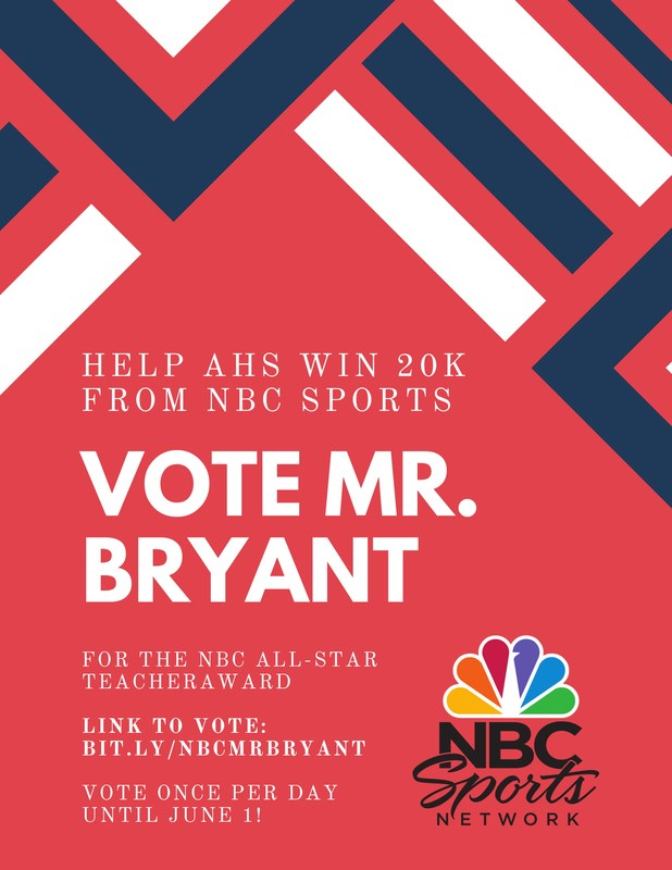 We know that Mr. Bryant is an all-star teacher - let's let the whole Bay Area know, too!