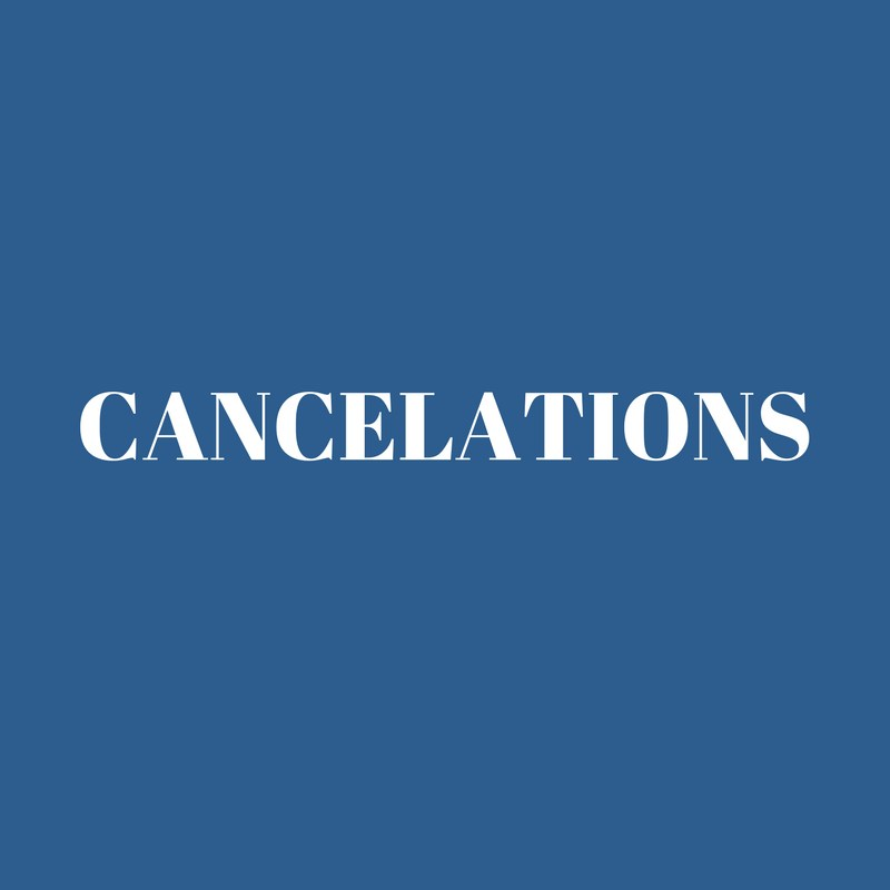 Cancelations