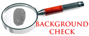 Background check graphic showing magnifying glass